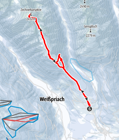 Karte / Zechnerkarspitze (2452m)