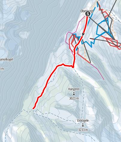 Map / Venter Skirunde im UZS, Etappe 1: Obergurgl - Langtalereckhütte