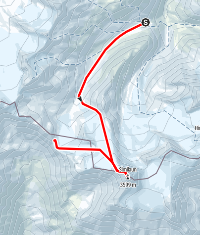 Map / Venter Skirunde im UZS, Etappe 3: Martin-Busch-Hütte - Similaun - Similaunhütte