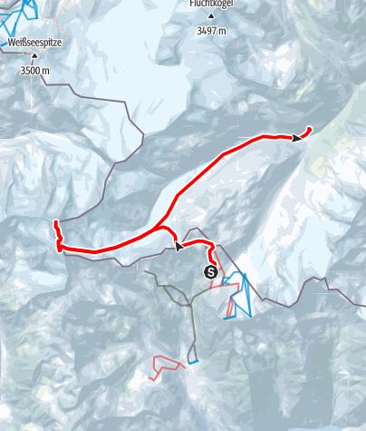 Map / Venter Skirunde im UZS, Etappe 5: Schutzhaus Schöne Aussicht - Weißkugel - Hochjochhospiz