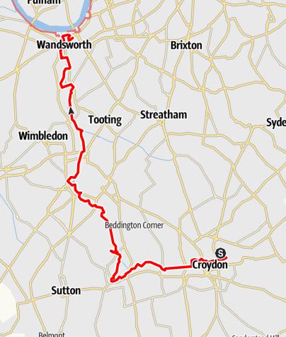 Karte / The Wandle Trail