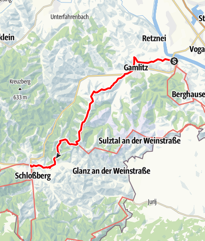 Map / 03 Südalpenweg, E03: Ehrenhausen - Leutschach