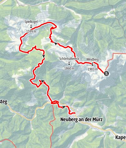 Map / 01 Nordalpenweg, E07: Schneealpenhaus - Neuberg an der Mürz