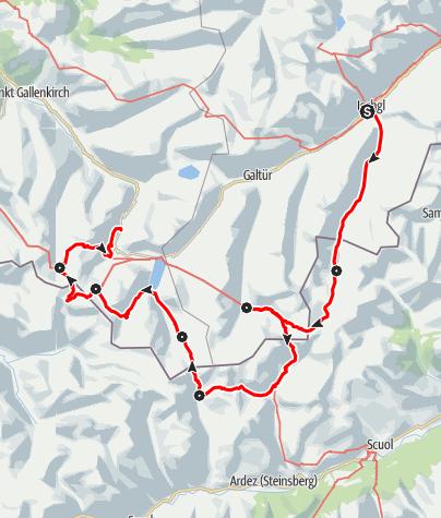 Karte / Silvretta-Runde