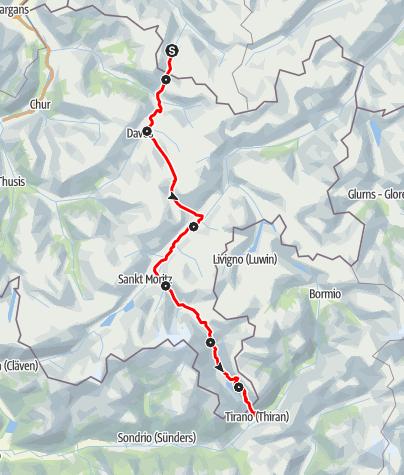 Karte / 30 ViaValtellina (7 Etappen)