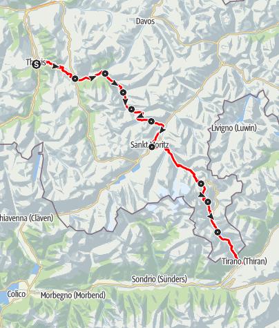 Map / 33 Via Albula/Bernina