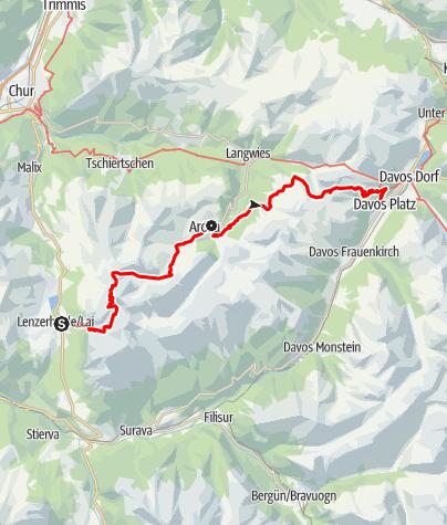 Map / 54 Mittelbünden Panoramaweg