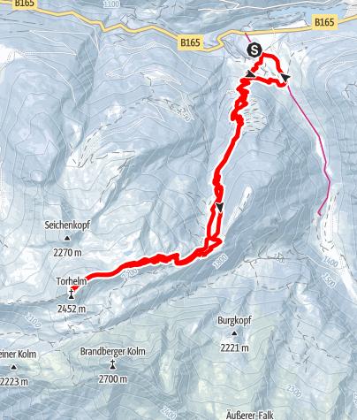 Karte / Torhelm über Weißbachalm vom Gerlostal