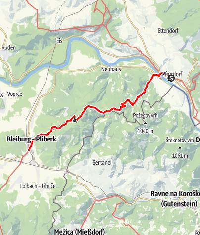 Map / 03 Südalpenweg, E07: Lavamünd - Bleiburg