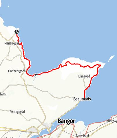 Karte / 5 Moelfre to Beaumaris
