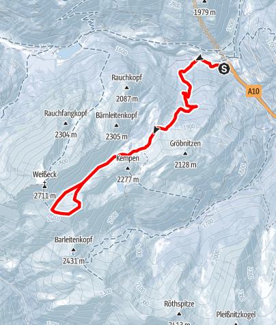 Karte / Felskarspitze von Zederhaus