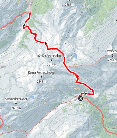 Karte / Familientour: Lungauer Seentour - 2. Etappe: Sticklerhütte (1750 m) - Königalm (1667 m)