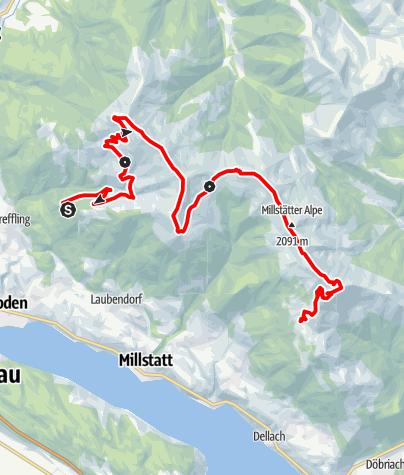 Karte / Familientour: Millstätter Höhensteig