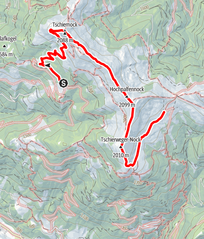 Karte /  Familientour: Millstätter Höhensteig - 2. Etappe: Sommeregger Hütte (1698 m) - Millstätter Hütte (1876 m)