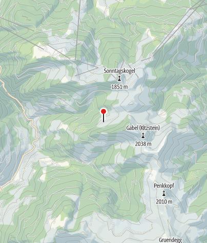 Karte / Muggenfeldalm (Rothofalm), 1.545 m