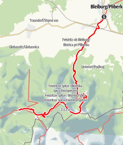 Map / 03 Südalpenweg, E08: Bleiburg - GH Riepl
