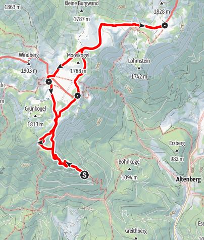 Karte / Familientour: Die Schneealm/Schneealpe