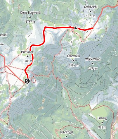 Karte / Familientour: Die Schneealm/Schneealpe - 2. Etappe:  Schneealpenhaus (1784 m) - Lurgbauerhütte (1764 m)