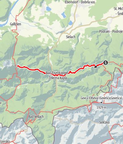 Map / 03 Südalpenweg, E09: GH Riepl - Eisenkappler Hütte