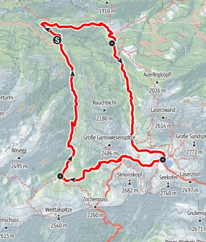 Karte / Familientour: Lienzer Dolomiten