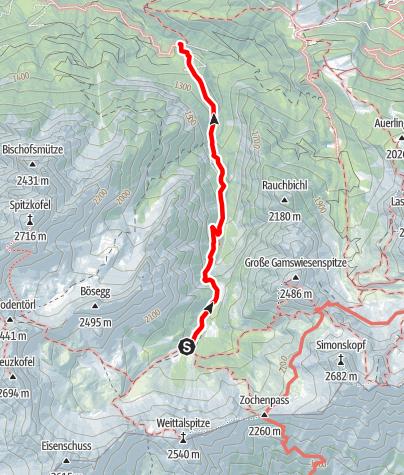 Karte / Familientour: Lienzer Dolomiten - 4. Etappe: Kerschbaumer Alm (1902 m) - Parkplatz Klammbrücke (1100 m)