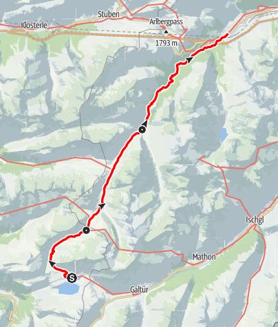Karte / Familientour: Das Verwall