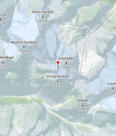 Karte / Jochdohle TOP OF TYROL