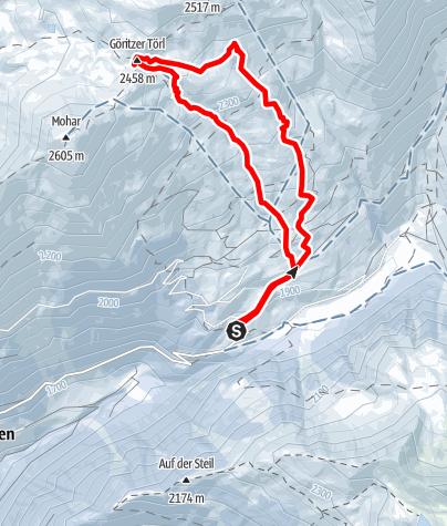 Karte / Göritzer Törl (2458 m) vom Sadnighaus