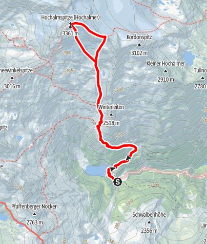 Karte / Hochalmspitze (3.360 m) Südpfeiler - Hochalpine Klettertour