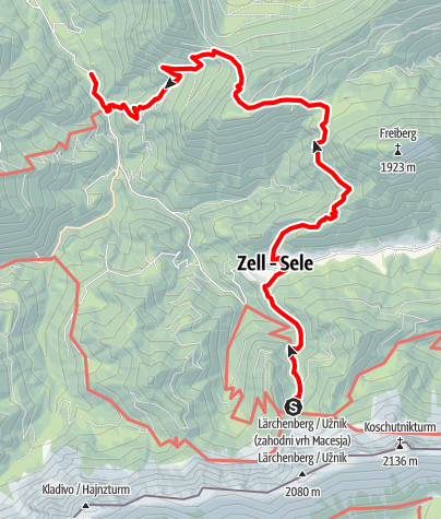 Map / 03 Südalpenweg, E11: Koschutahaus - Waidisch