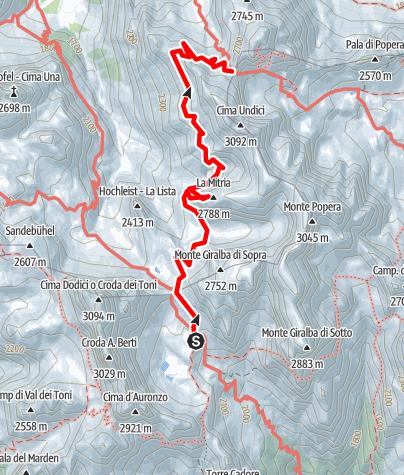Map / Rifugio Carducci - Passo della Sentinella Part 3