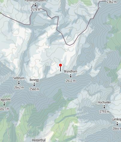 Karte / Wildalmkirchl-Biwak