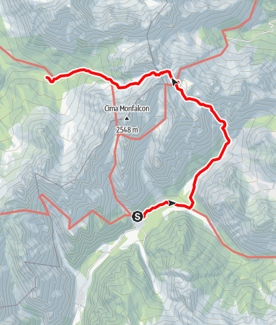 Map / Wanderrunde Friulanische Dolomiten - Etappe 3: Rifugio Pordenone - Rifugio Padova