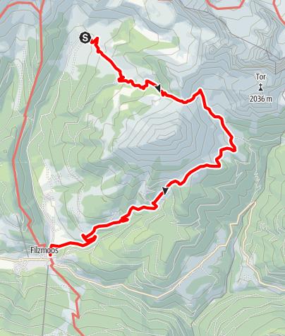 Karte / Von Alm zu Alm um den Rötelstein