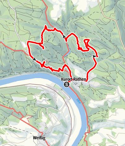 Karte / Wandern in Rathen Lok-Amselsee-Bastei