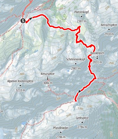 Karte / Etappe 2: Franz-Senn-Hütte – Neue Regensburger Hütte