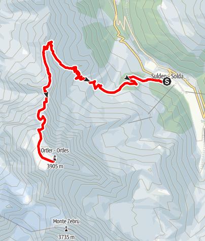 Karte / Ortler Normalweg