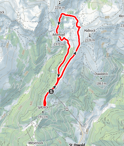 Karte / Nordic Walking in den Biosphärenpark Nockberge