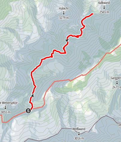 Map / Etappe 7: Bremer Hütte – Innsbrucker Hütte
