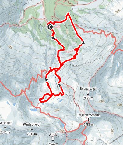 Karte / Auf den Spuren von Gold und Gletschern