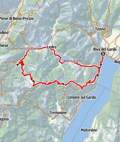 Karte / Die große Tremalzo Runde