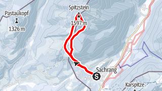 Mappa / Skitour: Spitzstein von Sachrang im Chiemgau