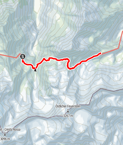 Map / Etappe 6: Nürnberger Hütte – Bremer Hütte