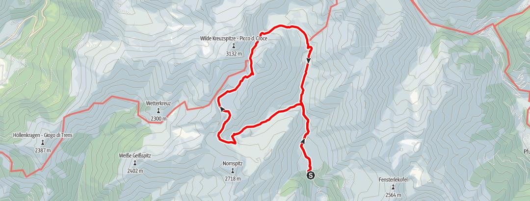 Karte / Wilder See und Brixner Hütte
