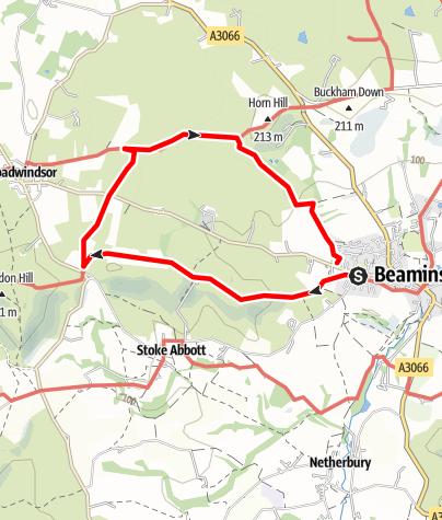 Karte / Beaminster circular