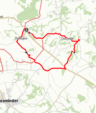 Karte / Cheddington Corscombe circular