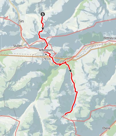 Map / Stuttgarter Hütte - Darmstädter Hütte