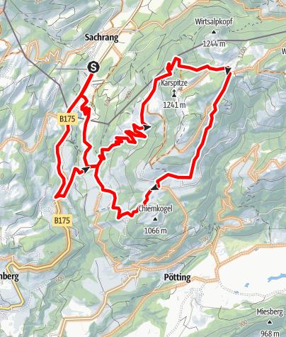 Karte / Rund um die Karspitze