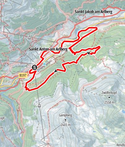 Karte / 2009-06-11 St. Anton SÜD