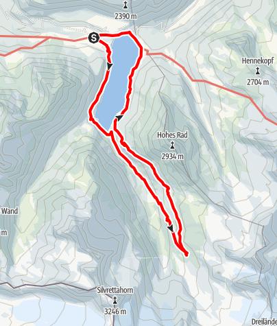 Karte / Vom Madlener Haus zur Wiesbadener Hütte
